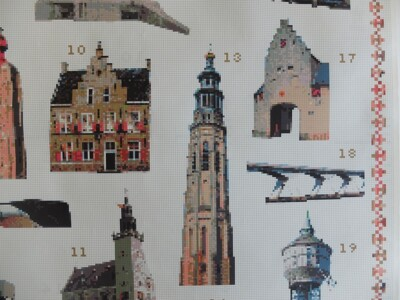 Borduurpatroon lange Jan Middelburg