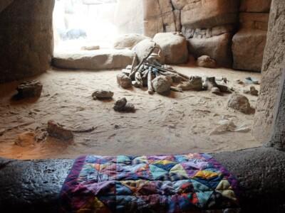 Doorkijkje met quilt in Burgers Desert