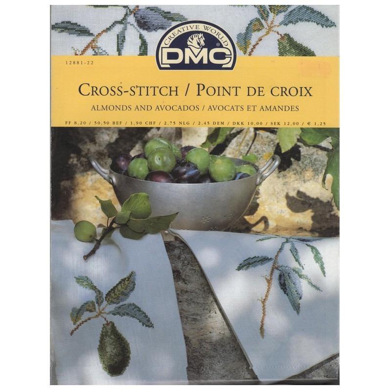 Kruissteek patroon voor amandel en avocado
