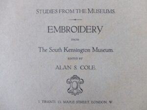 Studies from the museums embroidery
