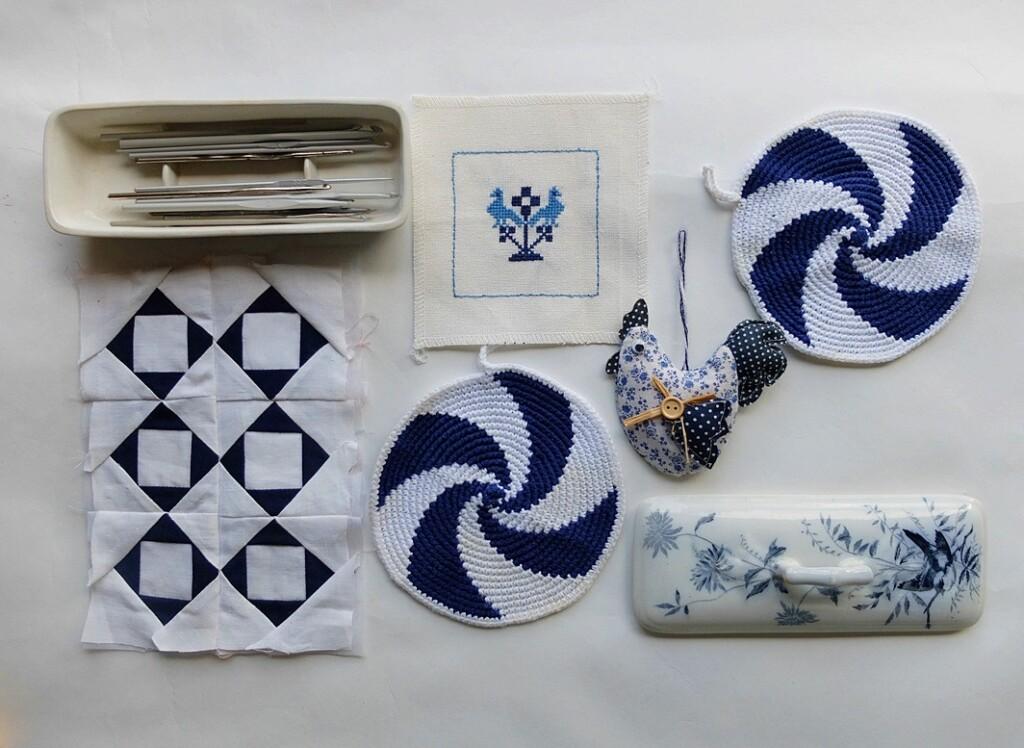 blauwe pannelappen