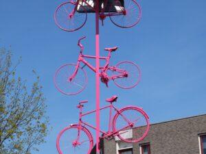 roze fietsen