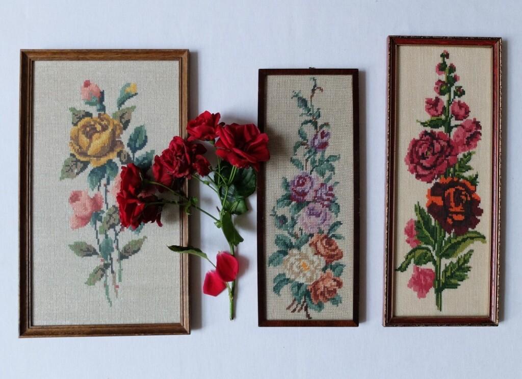 Borduurwerkjes rozen