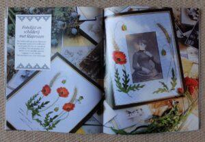 Pagina uit boekje Bloemen borduren
