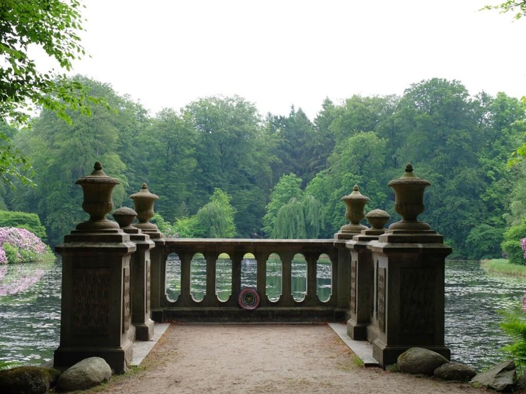 Waterval vijver park Loo