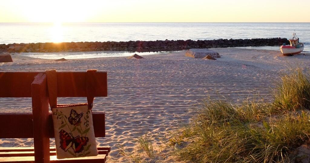Bankje strand Lonstrup