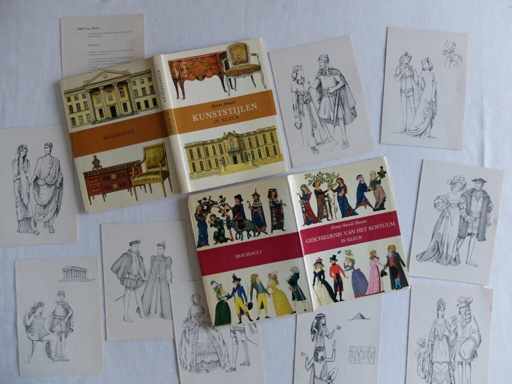 Boeken en illustraties geschiedenis van het kostuum