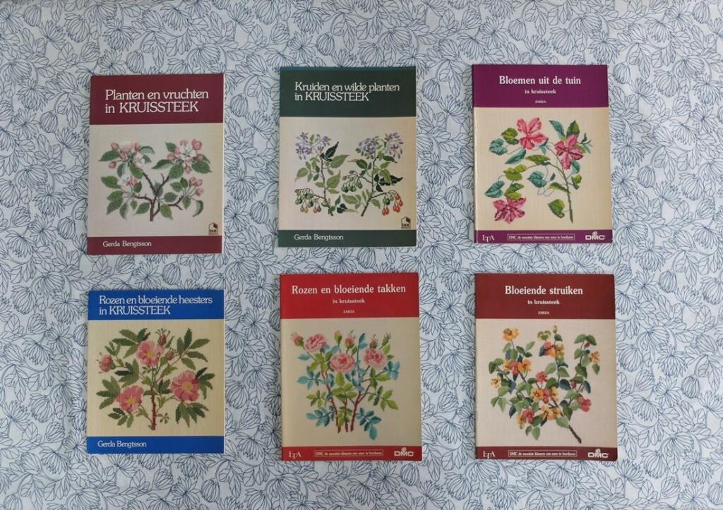Boeken-planten en kruiden in kruissteek