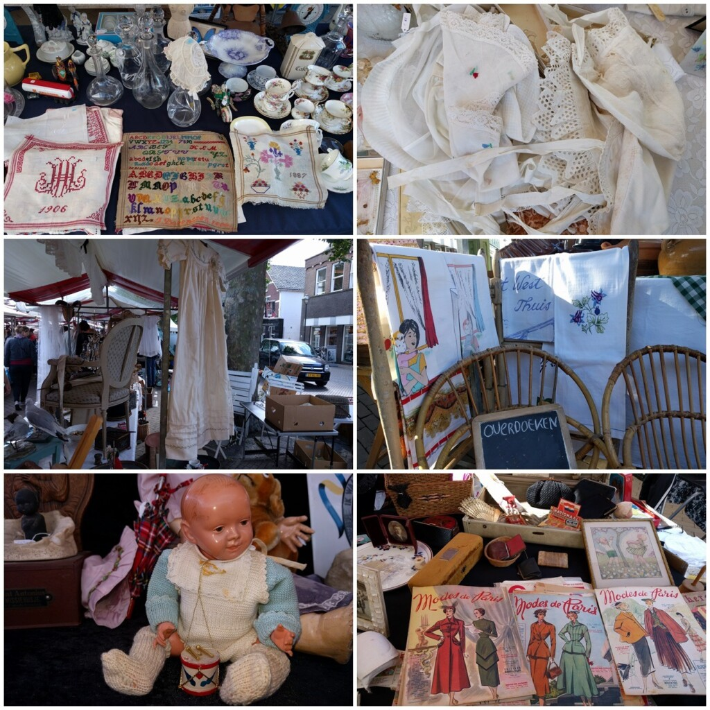 Collage antiekmarkt