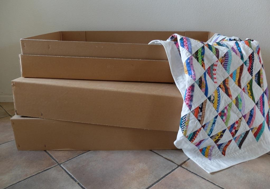 Grote platte doos voor quilt