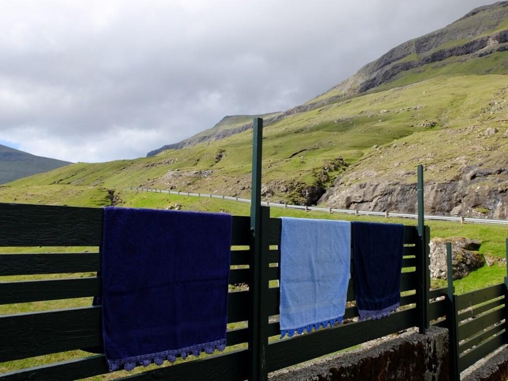 Handdoeken met gehaakt randje