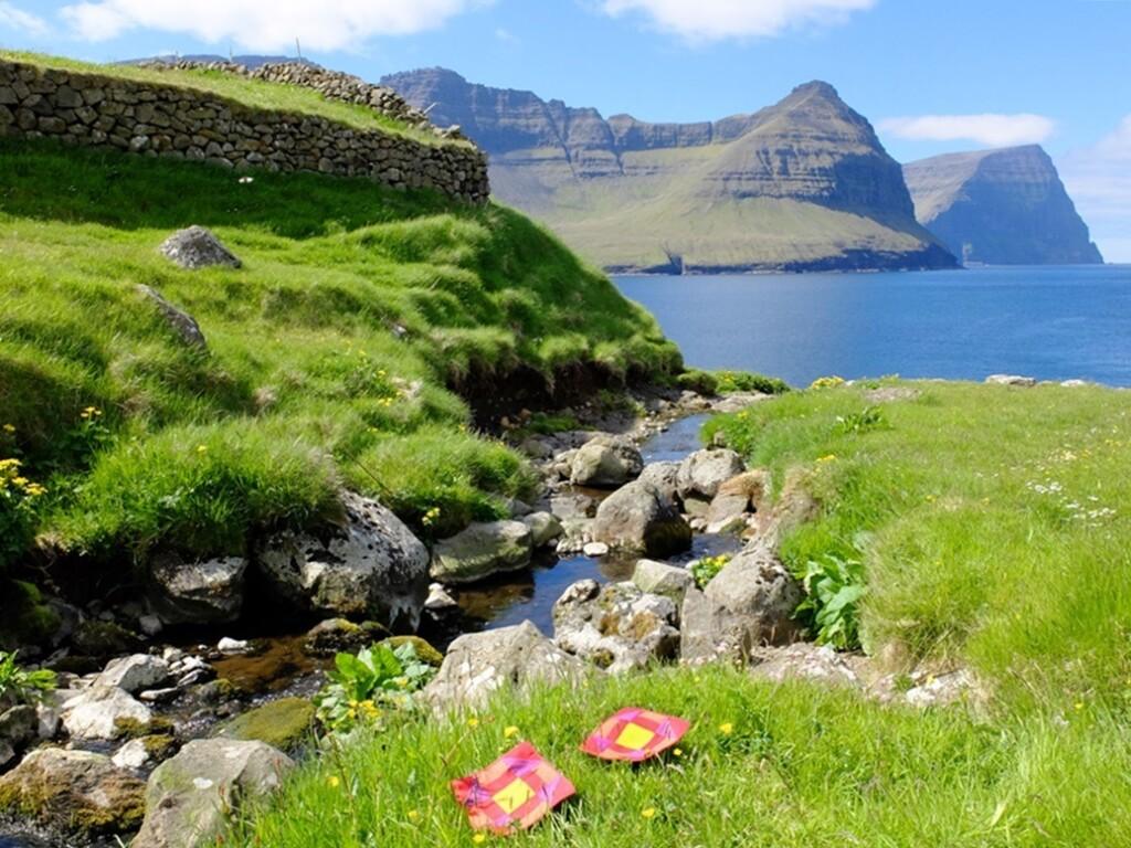 Patchworkjes op Faroer island