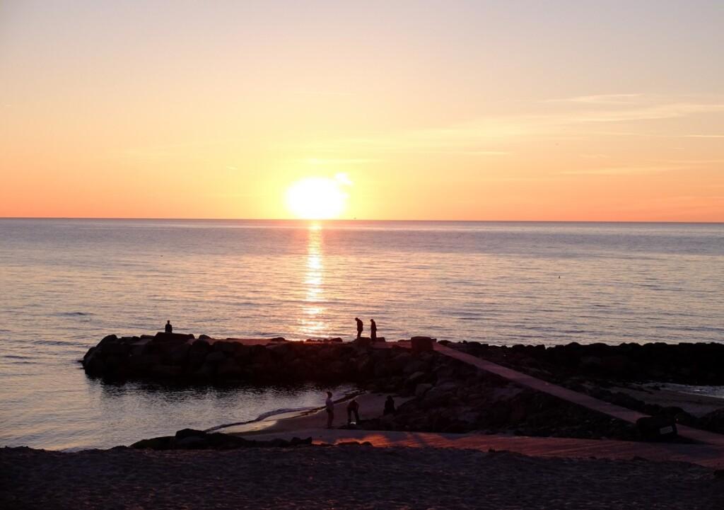Zonsondergang bij Lonstrup