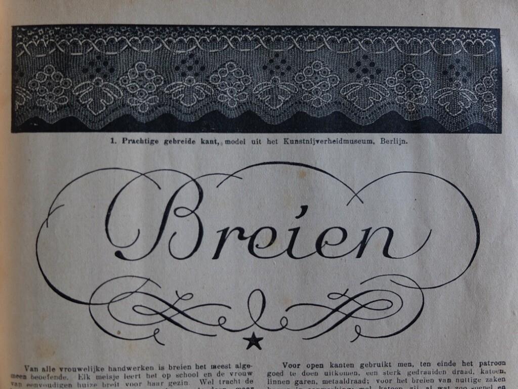 titelpagina uit oud boekje Breien van Wessem