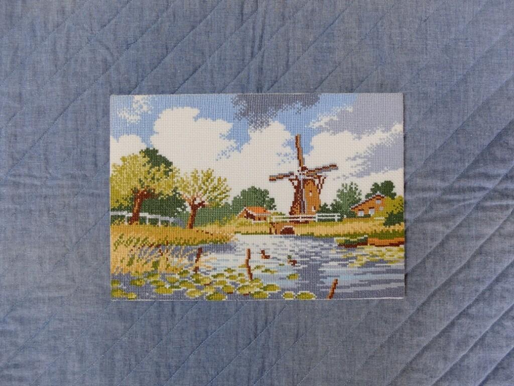 Borduurwerkje-Hollands-landschap
