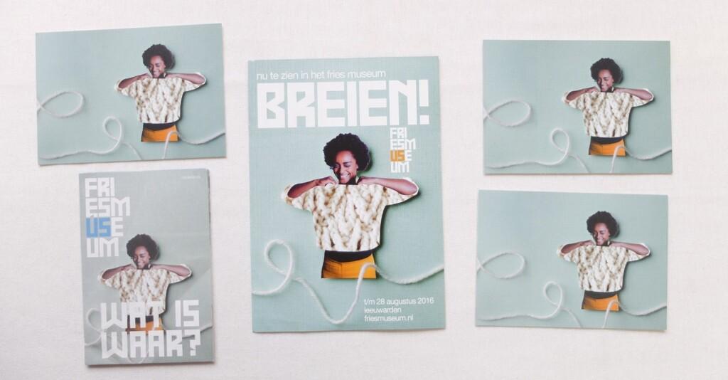 Folders tentoonstelling Breien