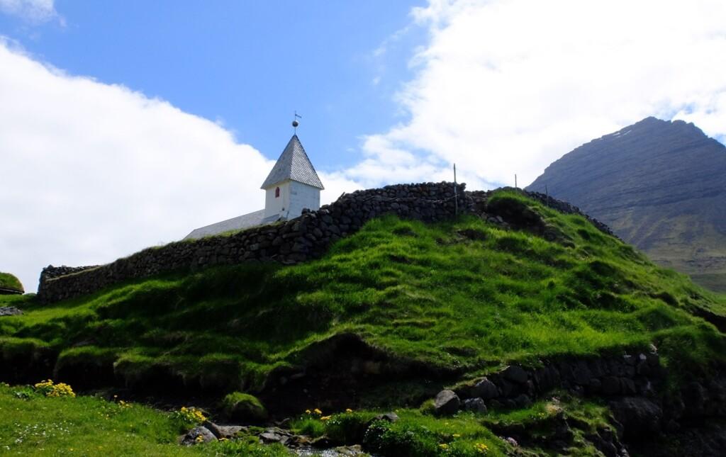 Kerkje op Faroër eiland