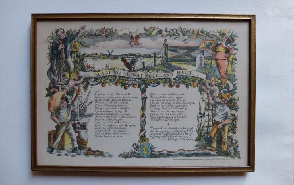 Schilderijtje Regeringsjubileum Wilhelmina