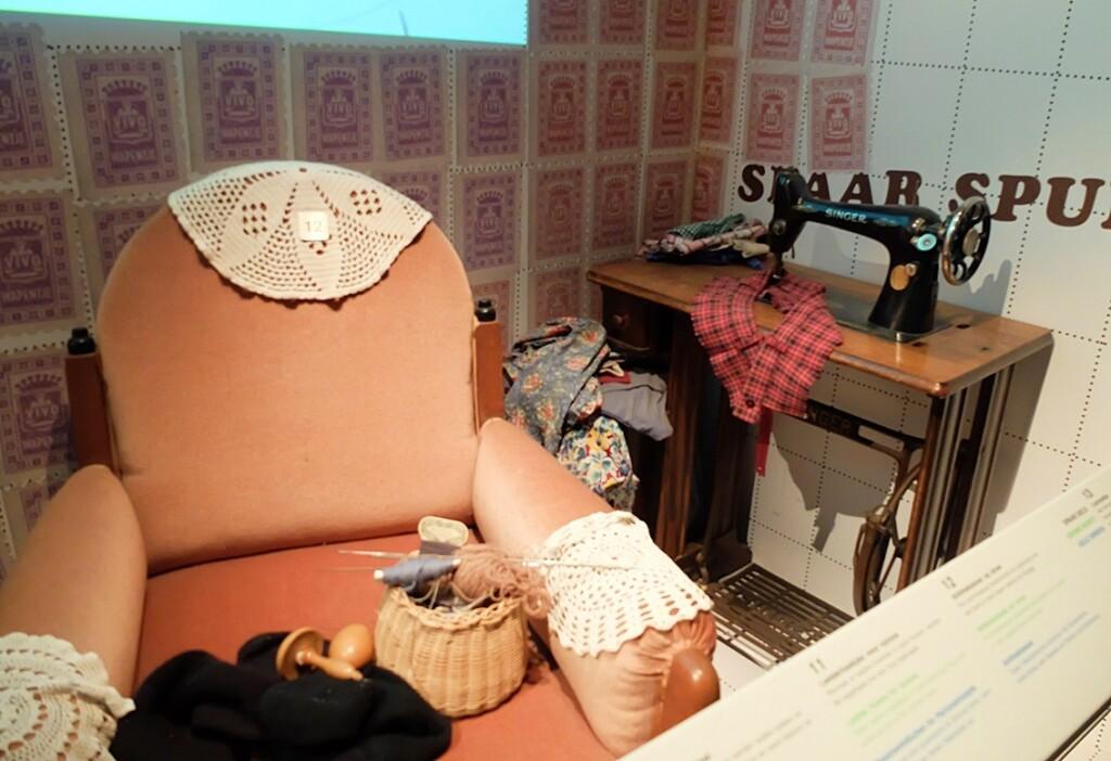Vitrine sparen in openluchtmuseum