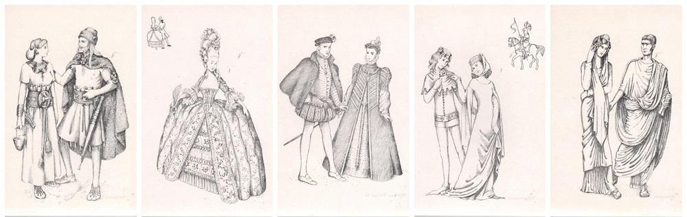 illustraties uit 6000 jaar mode