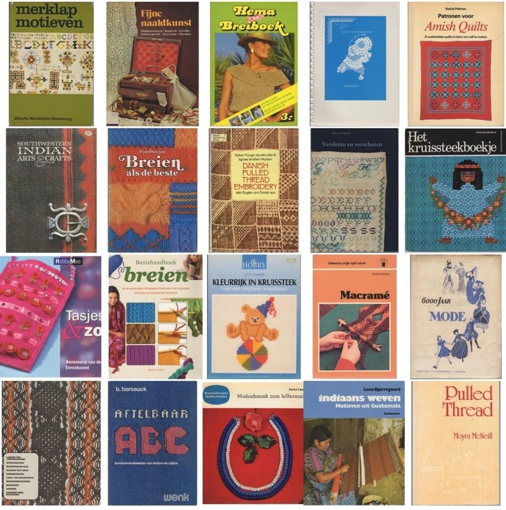 Collage handwerkboeken