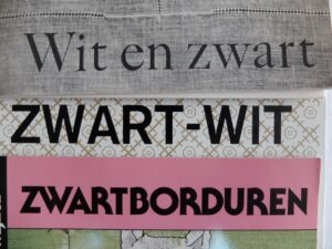 wit en zwart borduren