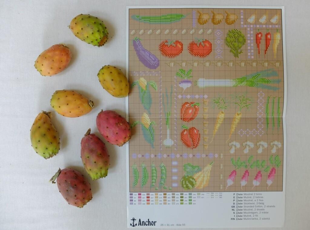 borduurpatroon groente