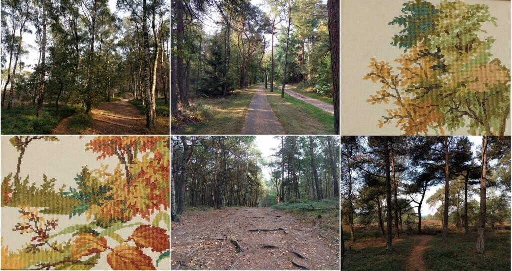 collage bomen