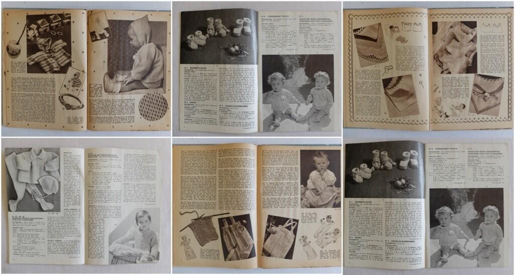 pagina's uit oude breiboekjes