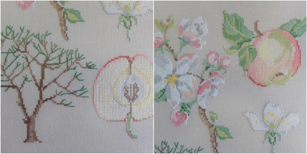 detail borduurwerk appels