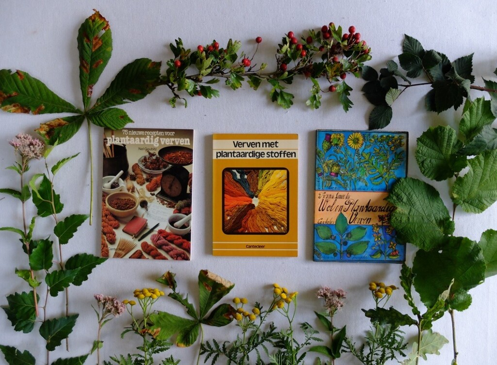 Boekjes verven met plantaardige stoffen