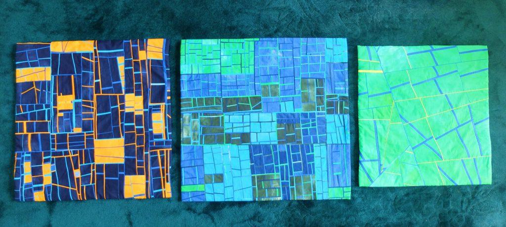 Drie quiltjes van mieke Schabbing
