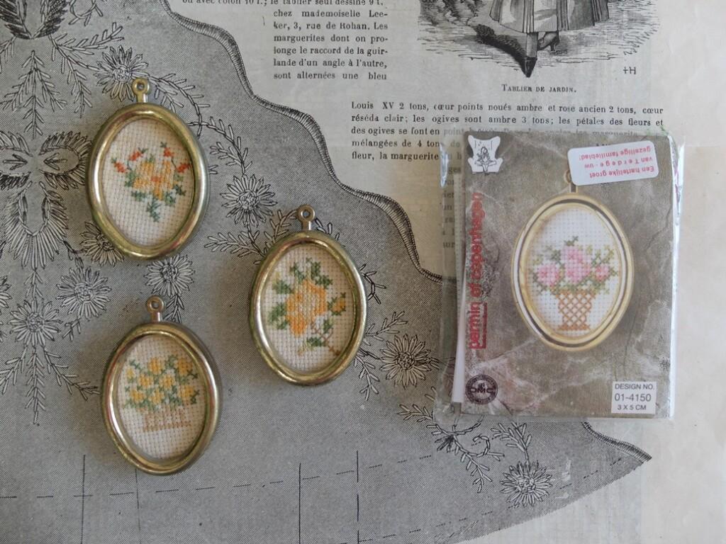 Medaillons voor miniature-borduurwerkjes