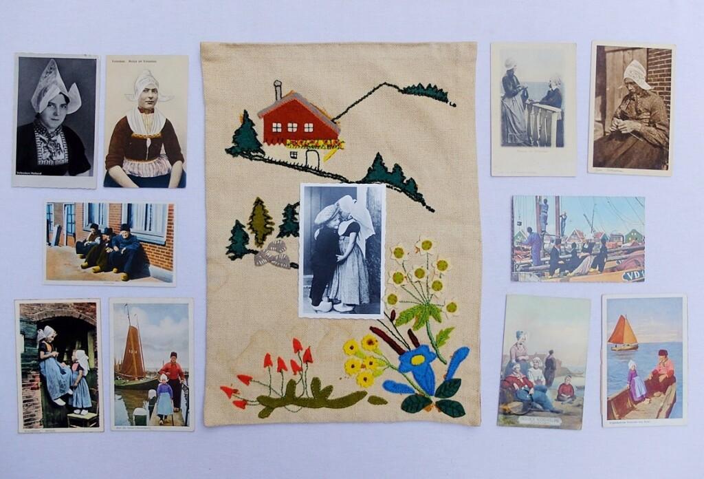 Oude ansichtkaarten klederdrachten