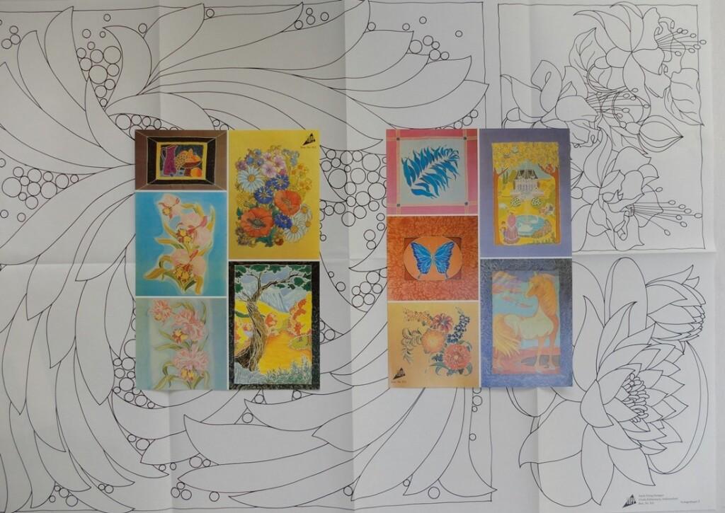 patroonvellen zijdeschilderen