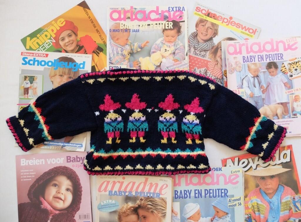 Tijdschriften over kindertruitjes