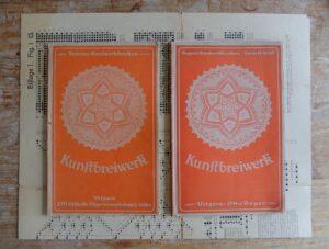 twee boekjes kunstbreiwerk