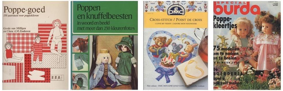 Collage poppenboeken