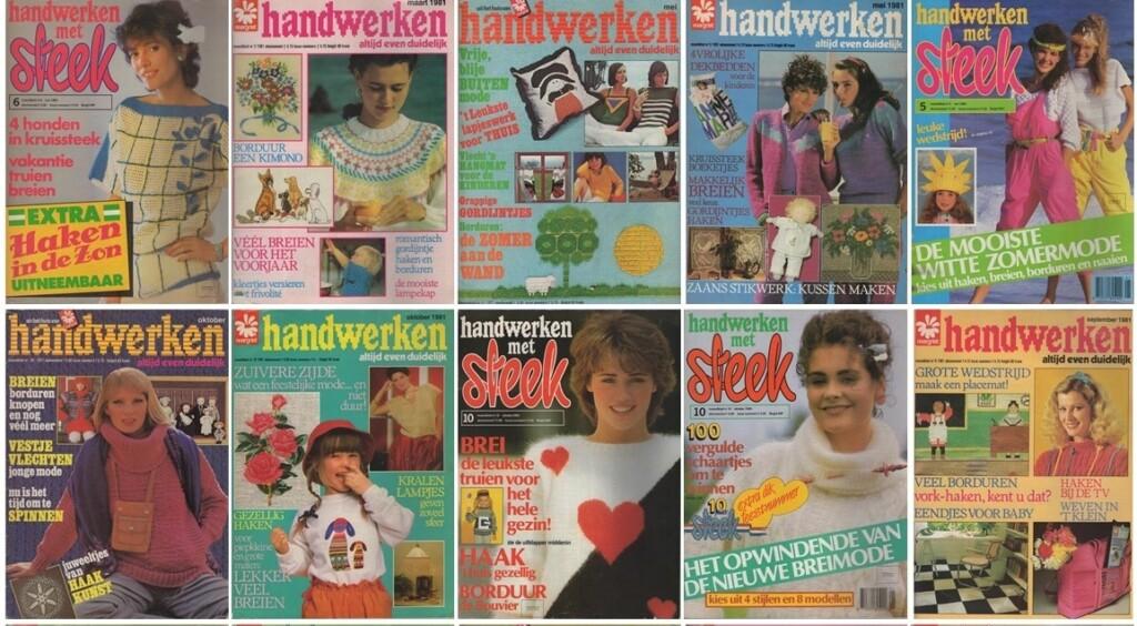Collage tijdschriften Handwerken Steek
