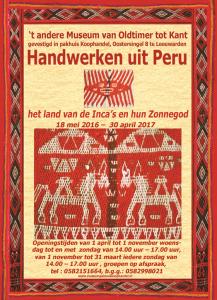 Folder tentoonstelling Peru