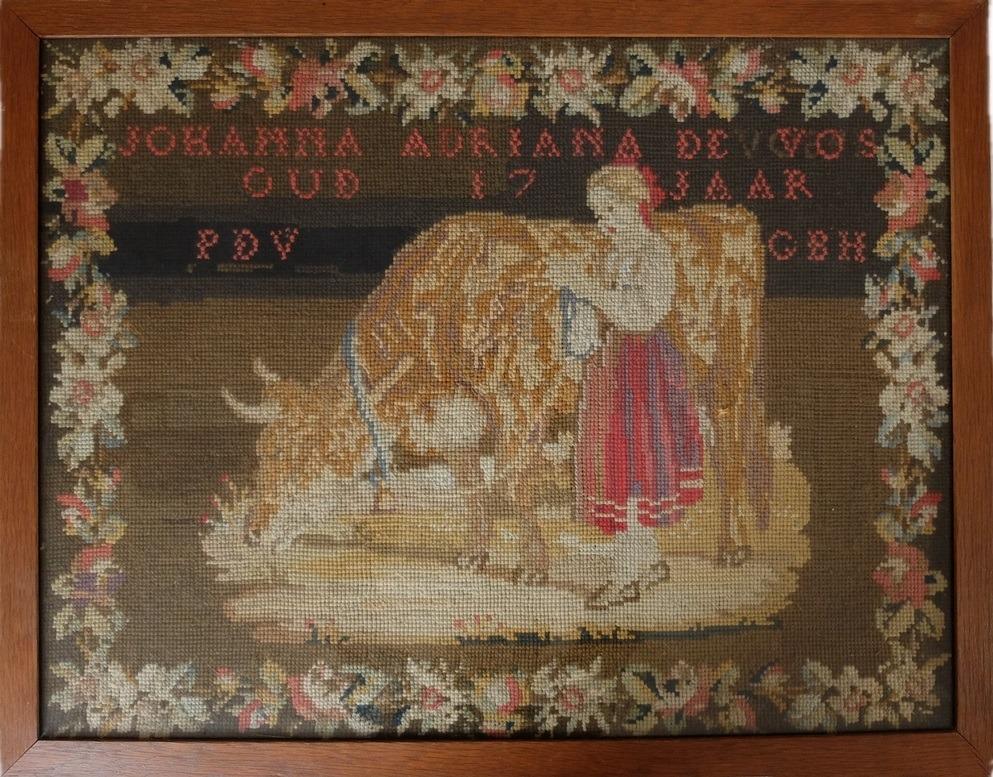 Geborduurd schilderij Berliner Woolwork