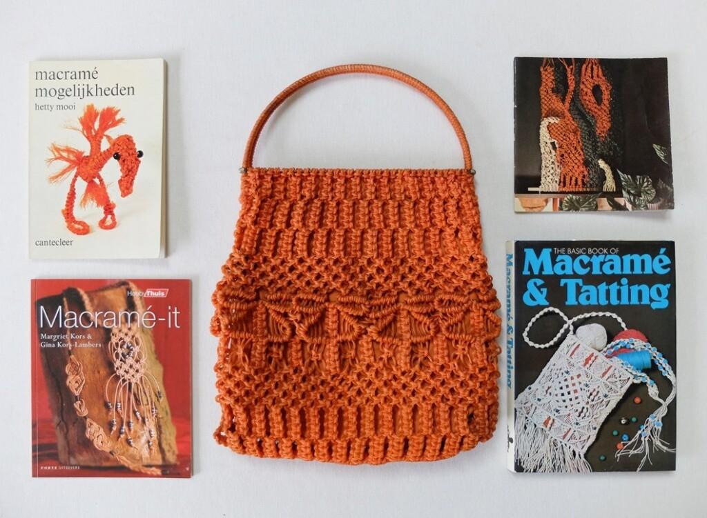 Macrame tas en boeken