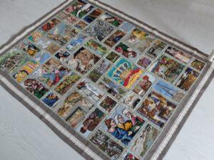 vloerkleed van oude tapisserie