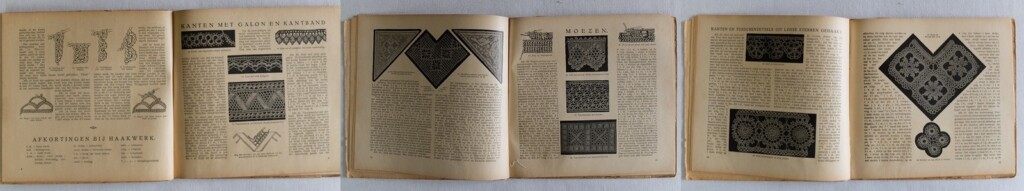 Pagina's uit oud haakboekje