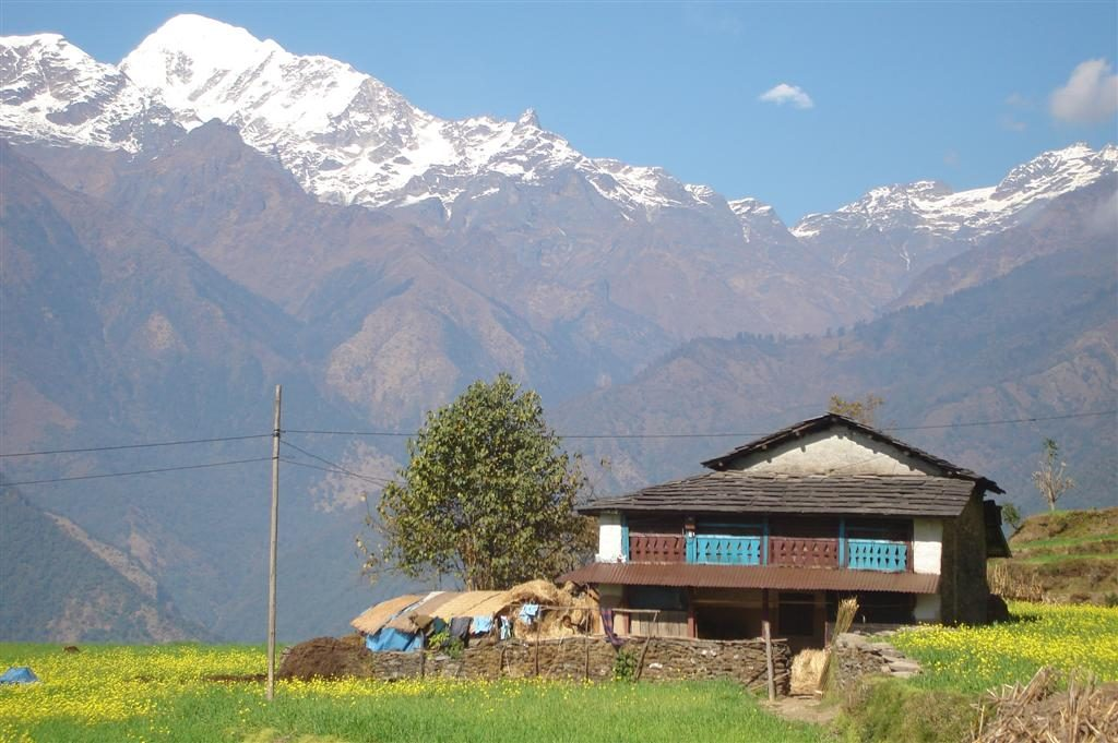Huis in bergen Nepal