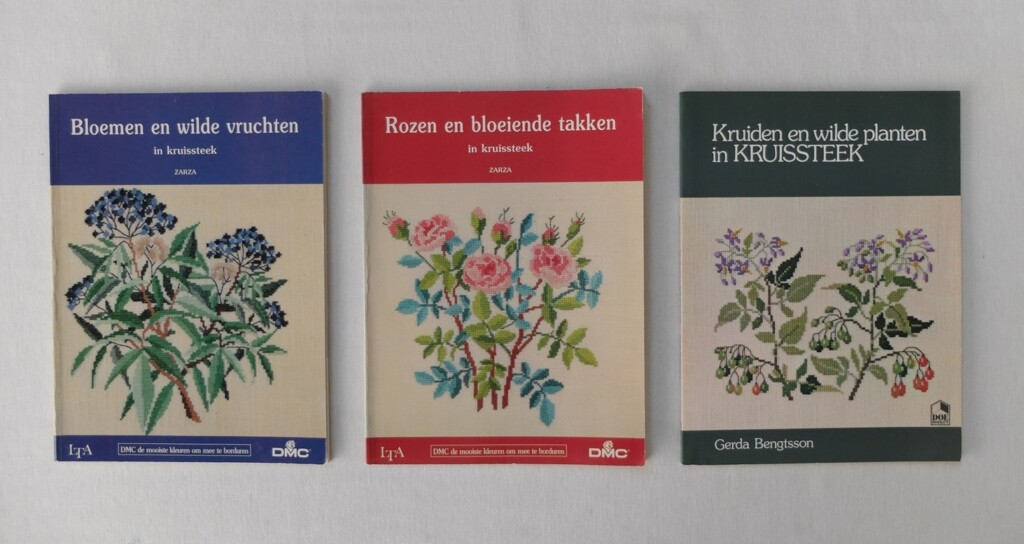 boeken wilde planten kruissteek