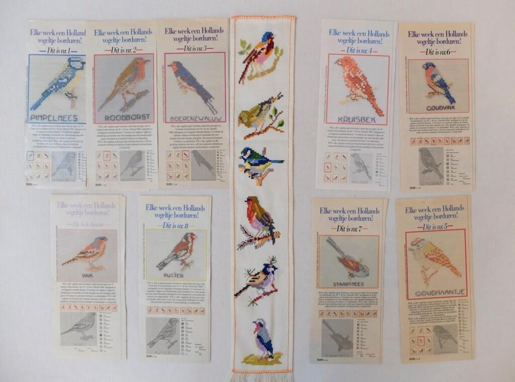 Kruissteekpatroontjes vogeltjesjes