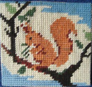 borduurwerk eekhoorn