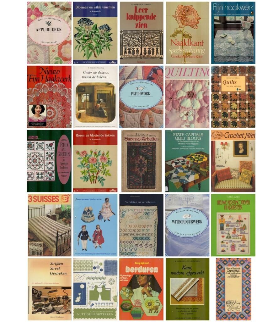 Collage oude handwerkboeken