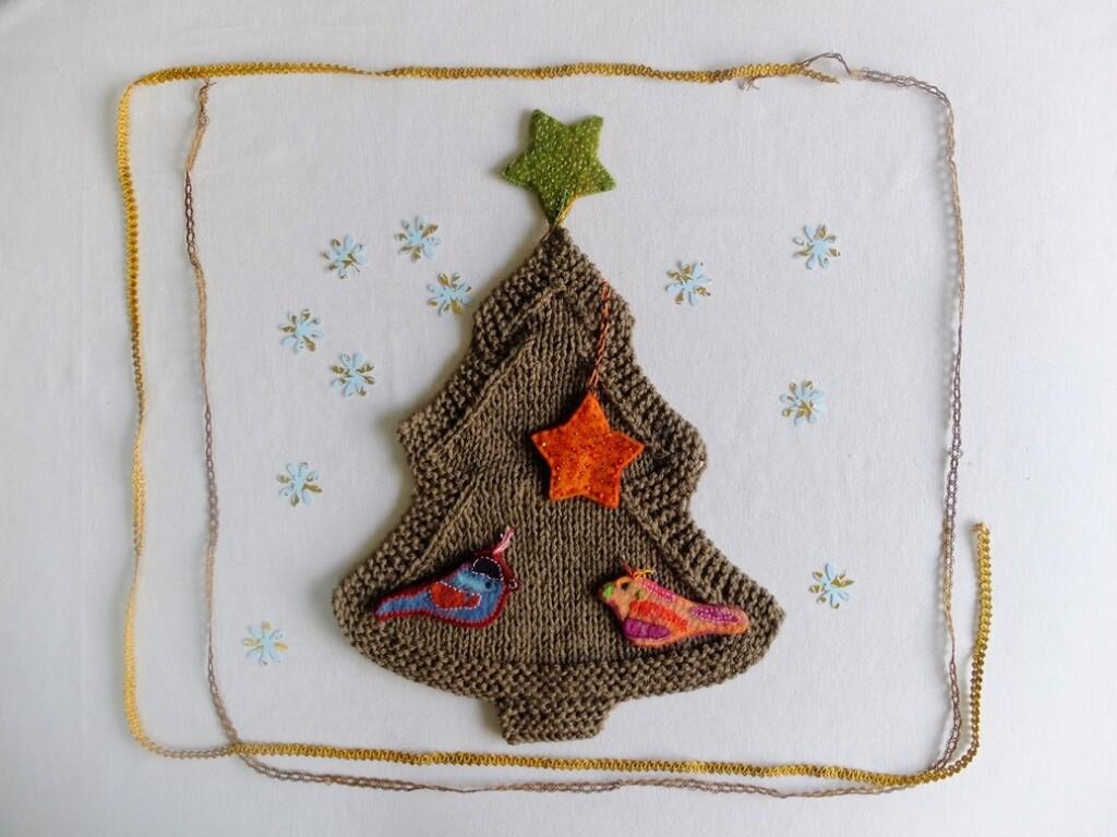 gebreide kerstboom